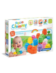 Clementoni - Clemmy - Soft Clemmy - Confezione 24 Mattoncini 14707