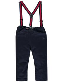 Retro Pantalone gabardine elasticizzato con bretelle  03MDBH001 286 Mek