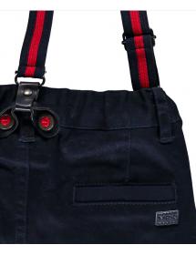 Retro Bretelle Pantalone gabardine elasticizzato con bretelle  03MDBH001 286 Mek