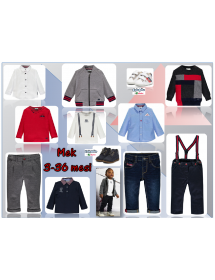 Coordinabili con Pantalone gabardine elasticizzato con bretelle  03MDBH001 286 Mek