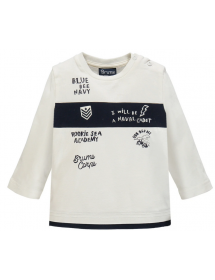 T-shirt in jersey con inserto in contrasto Brums
