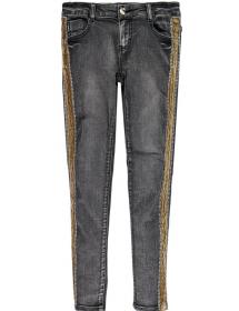 Jeans stretch Repreve® con banda in velluto Mek