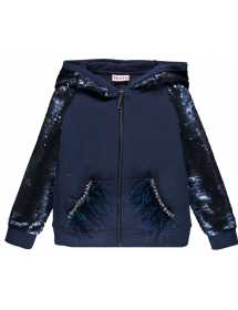 Top in punto Milano con paillettes 193BGFC008 207 Brums