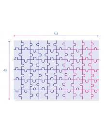 Dimensioni del Puzzle MAXI MINNIE HAPPY HELPER Supercolor MAX 60pz.