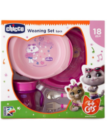 Chicco Set Pappa 44 Cats Rosa