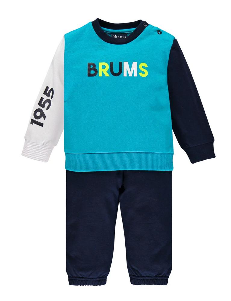 Brums - Tuta giro felpina logo 211bdep001 135