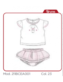 Brums - Completo 2 pezzi t shirt + gonna tulle con mutanda 211bcea001 023