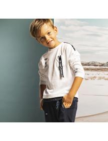 Brums - T shirt jersey con nastro stampato 211bffl001 001