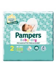 Pampers Baby-dry n°2 Mini