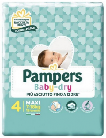 Pampers Baby-dry n°4 Maxi